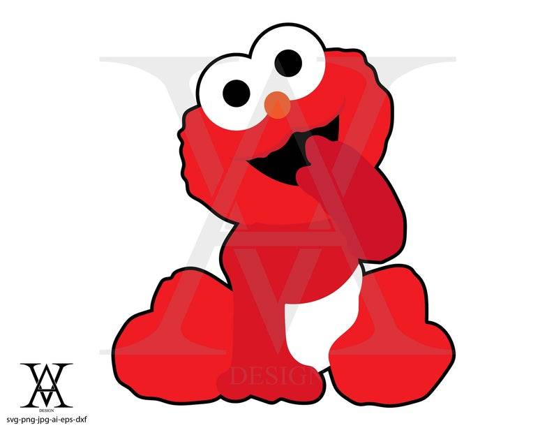 Elmo clipart mini. Custom baby vector instant