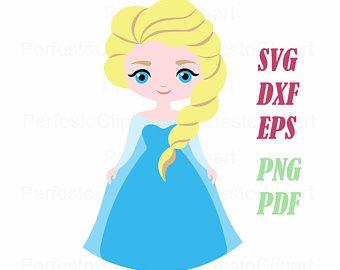 Elsa clipart. Silhouette etsy frozen vector