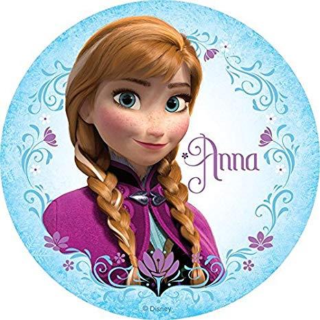 Frozen edible image photo. Elsa clipart anna round