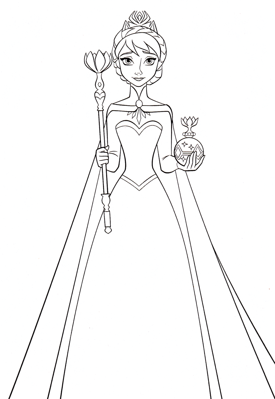 Elsa clipart book. Black and white woman