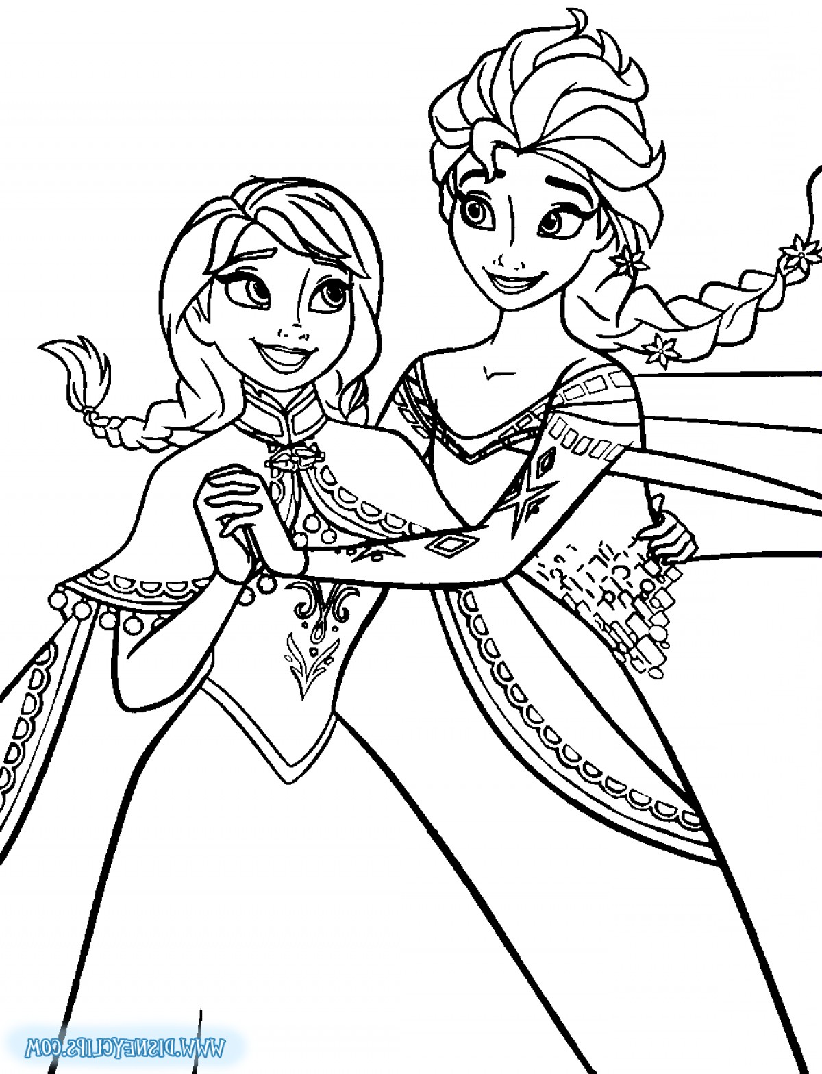 Crowning page elsa soidergi. Frozen clipart coloring