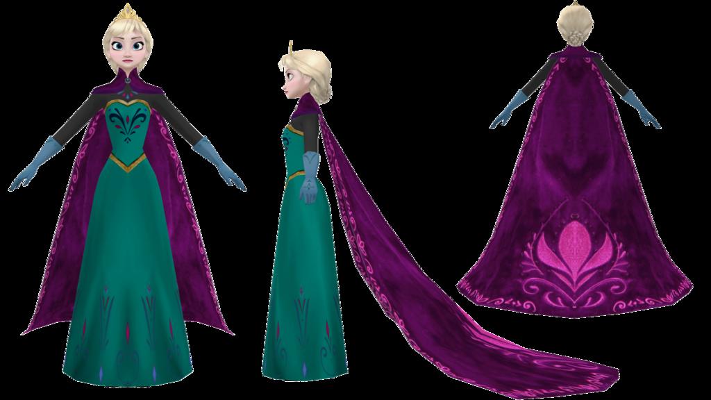 Elsa clipart coronation. Mmd w i p