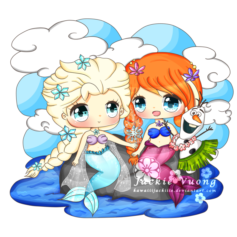 Elsa clipart drawing. And anna mermaids by
