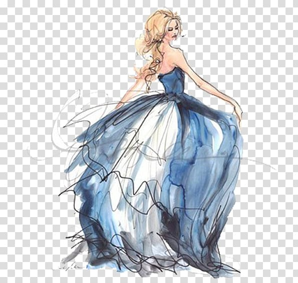 Disney painting drawing costume. Elsa clipart fashion illustration