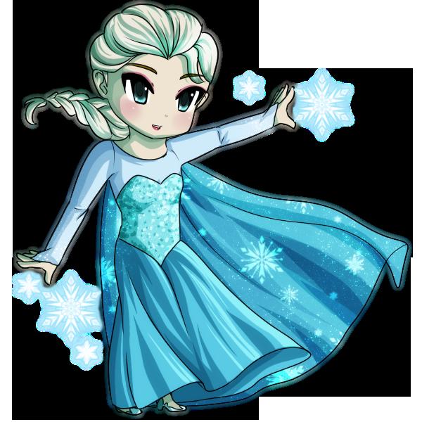 Chibi by sweet dayo. Elsa clipart fashion illustration