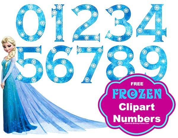 Frozen clipart number. Font princess party ideas