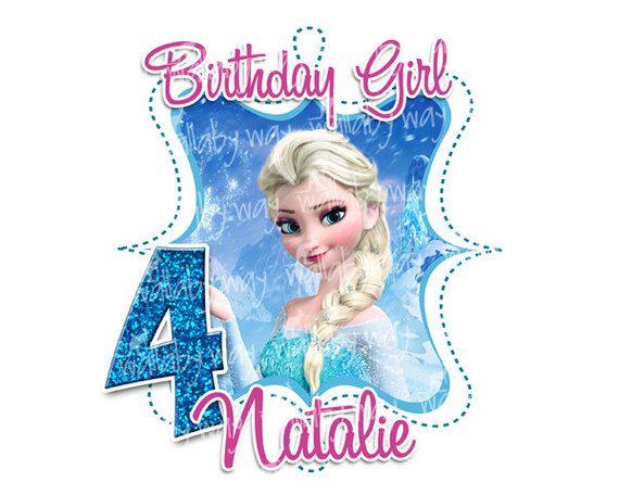 Elsa clipart frozen birthday. Printable iron on transfer