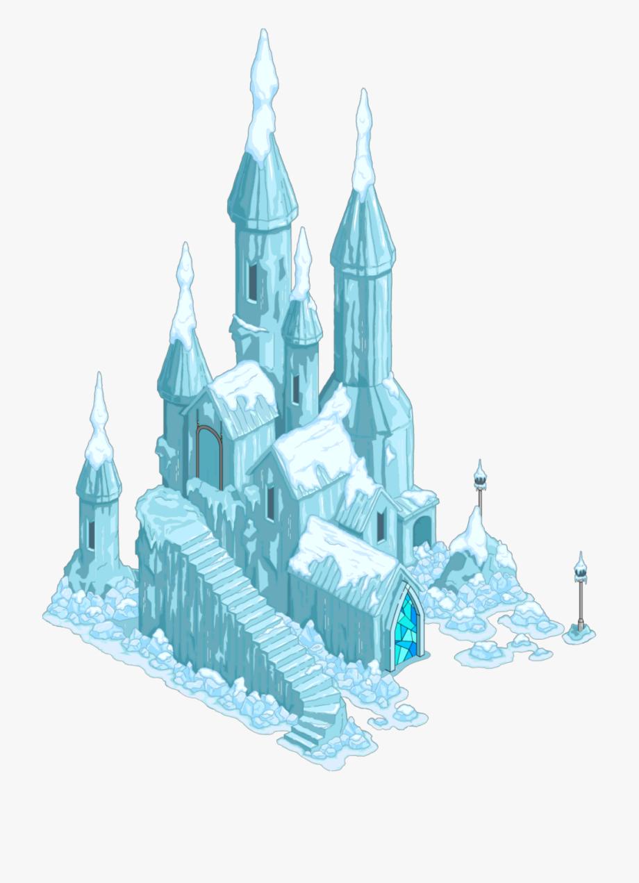Elsas ice png . Palace clipart frozen castle
