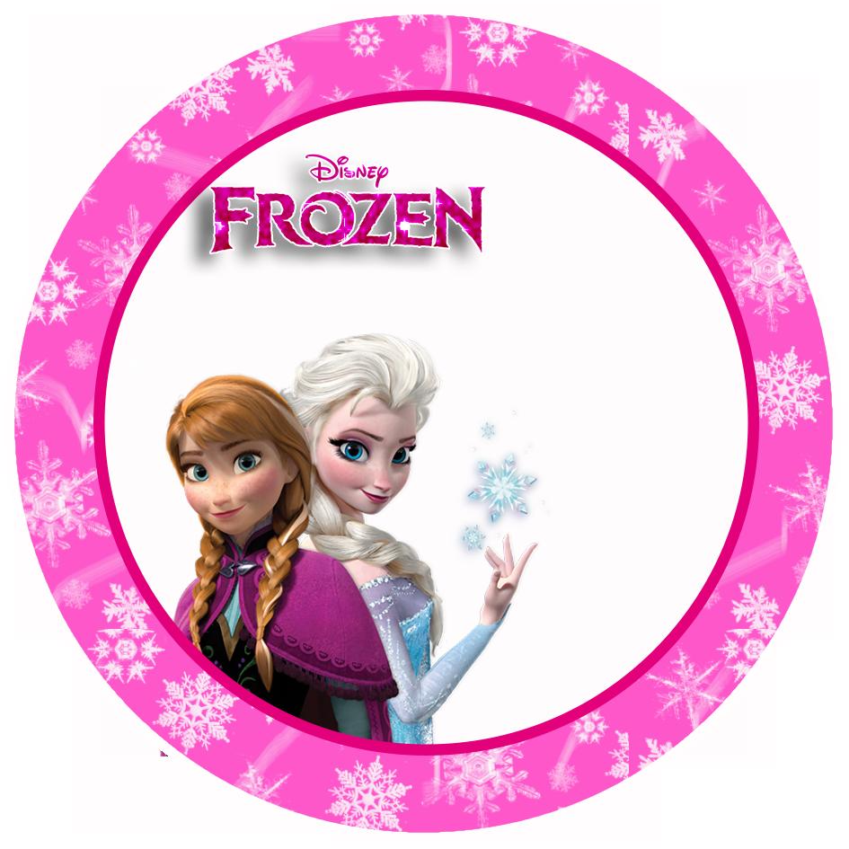 Frozen in pink free. Elsa clipart label