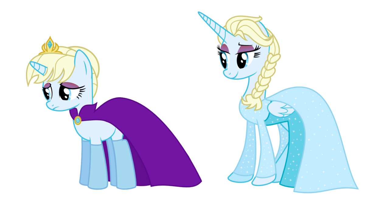 Elsa clipart pony. My little and anna