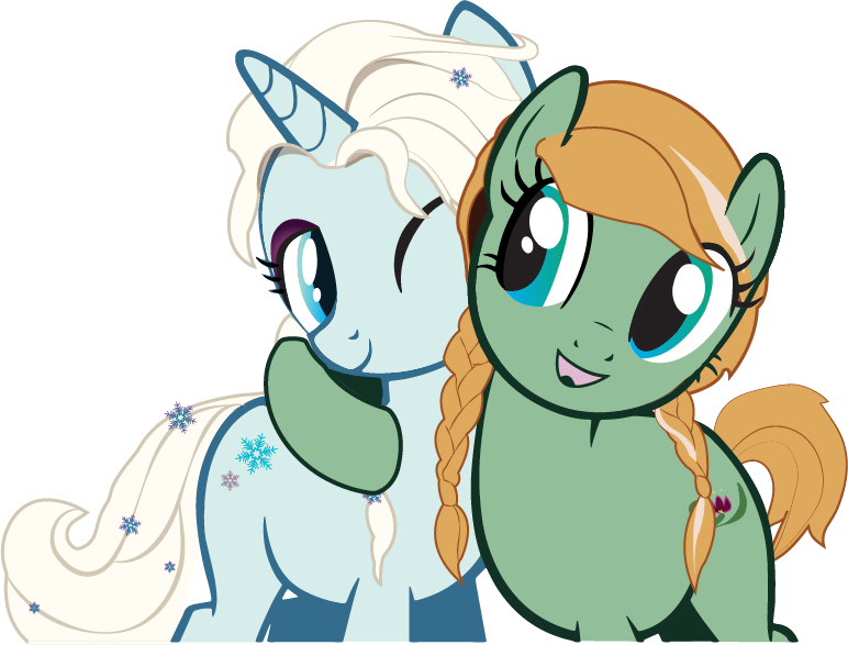 Anna and by cmeschia. Elsa clipart pony
