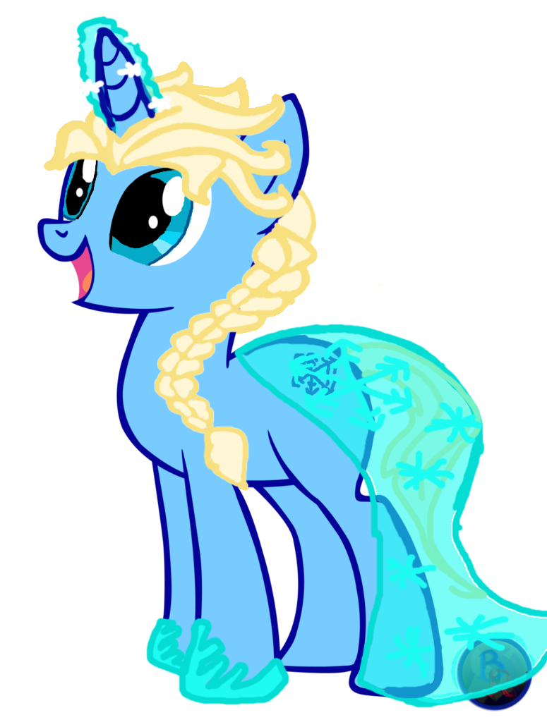 By gaf on deviantart. Elsa clipart pony