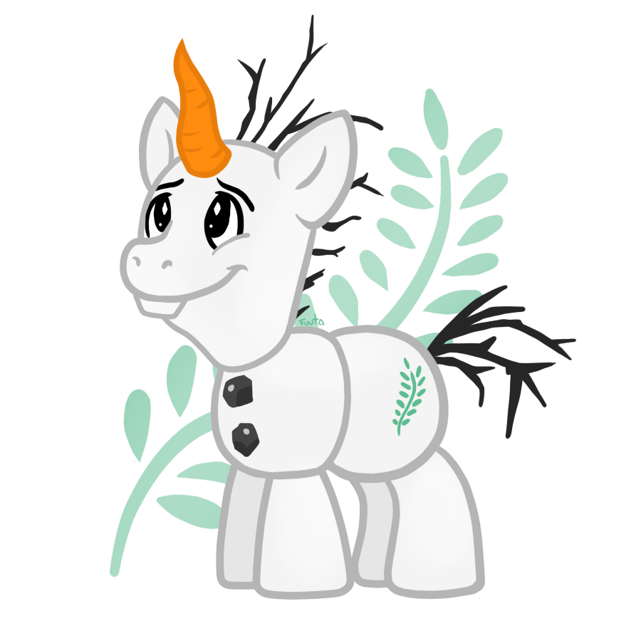 Elsa clipart pony. Olaf the snowpony my