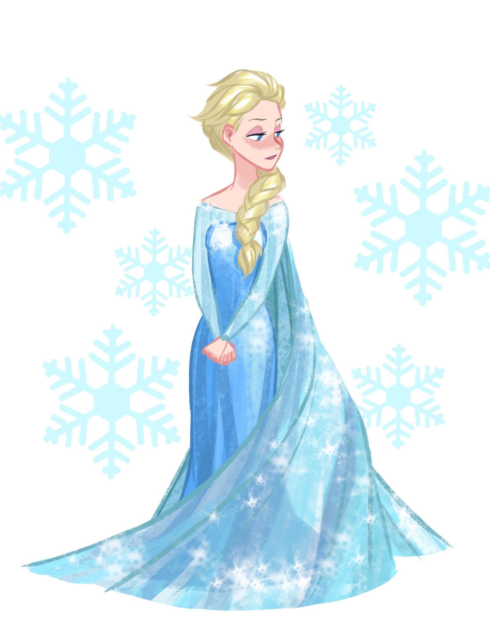 Artstation fan art del. Elsa clipart russell