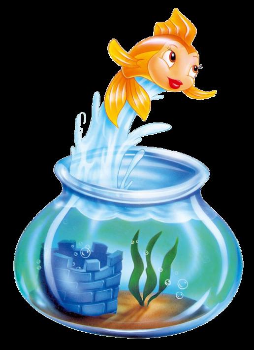 Fishbowl clipart surprised. Cleo disney wiki fandom