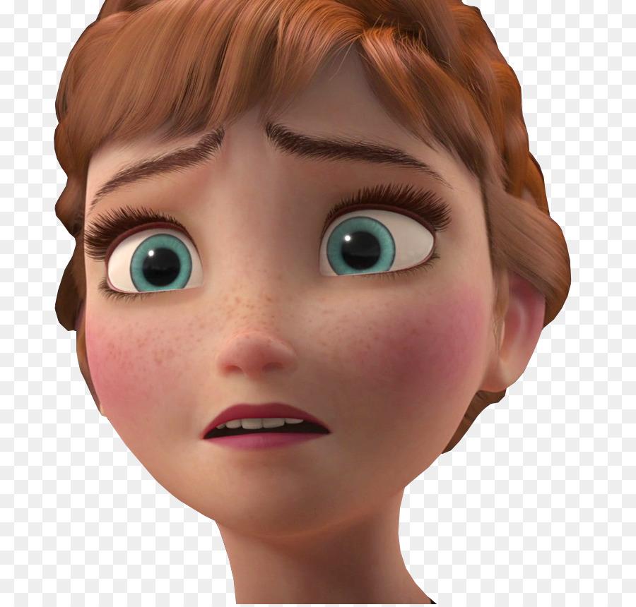 Frozen clipart head. Anna face nose transparent