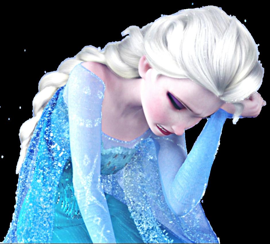 Elsa clipart sad. Tragic pose by gisellethecupid