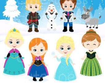 Elsa clipart vector. Etsy