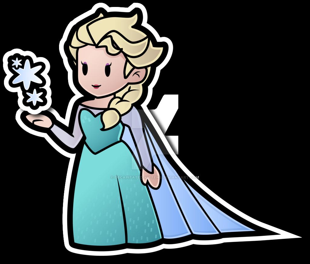 Paper mario disney by. Elsa clipart vector