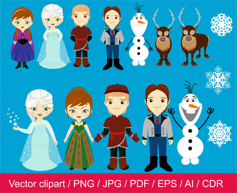 Frozen clipart free vector. Princess cliparts download clip