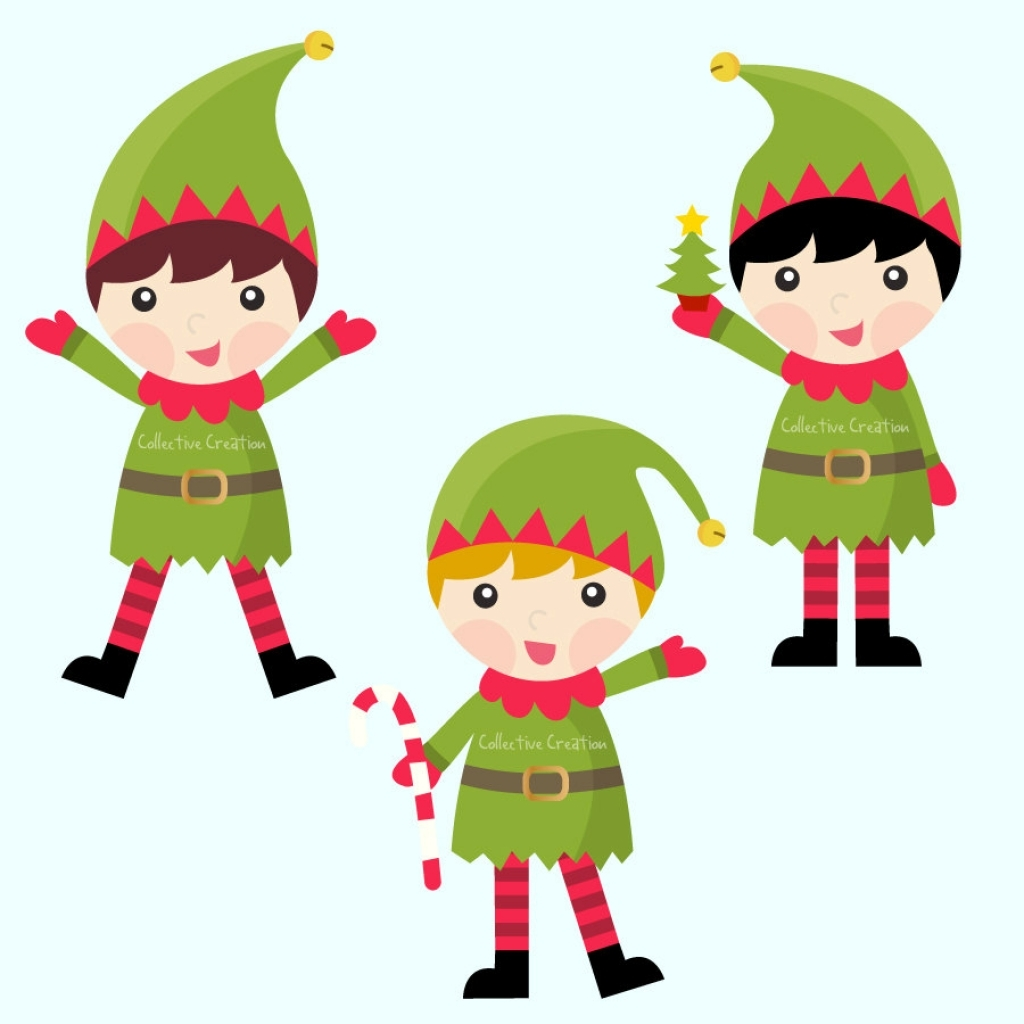 Elves clipart. Christmas with regard to