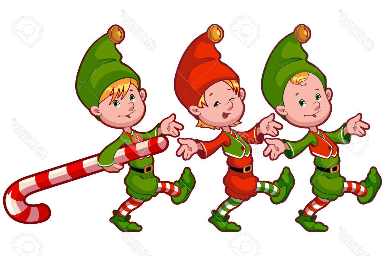 Elves clipart. Santa and at getdrawings