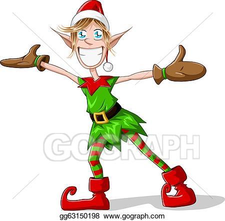 Clip art vector christmas. Elves clipart arm