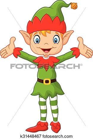 Elves clipart arm. Cute green elf boy