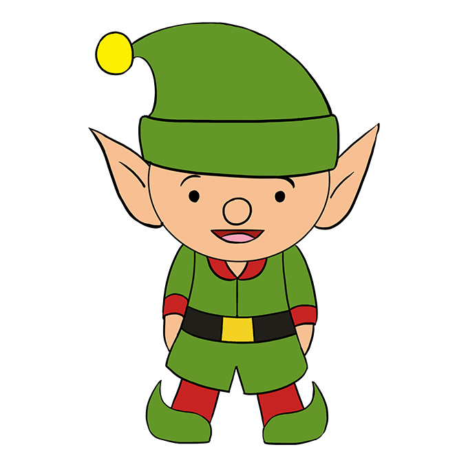 How to draw an. Elves clipart body