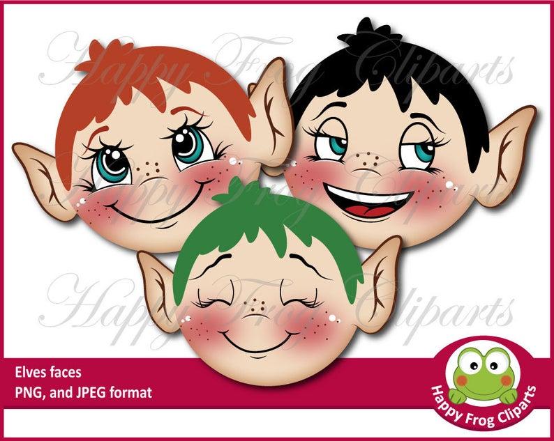 Faces hfc cute wreath. Elves clipart elf face