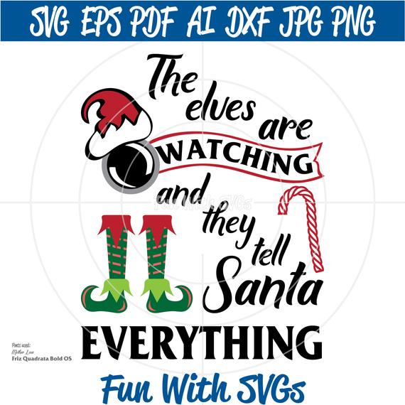 Are watching svg christmas. Elves clipart file