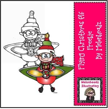 Christmas elf clip art. Elves clipart flying