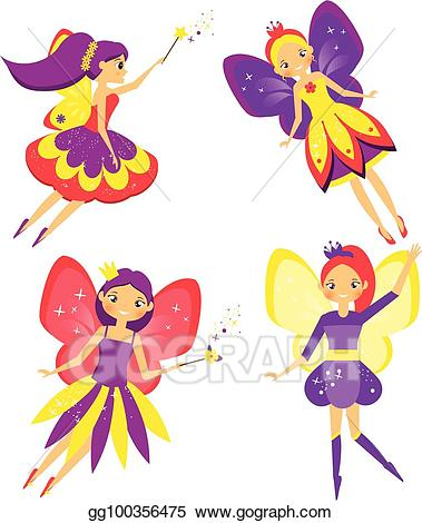 Vector stock beautiful fairy. Elves clipart flying