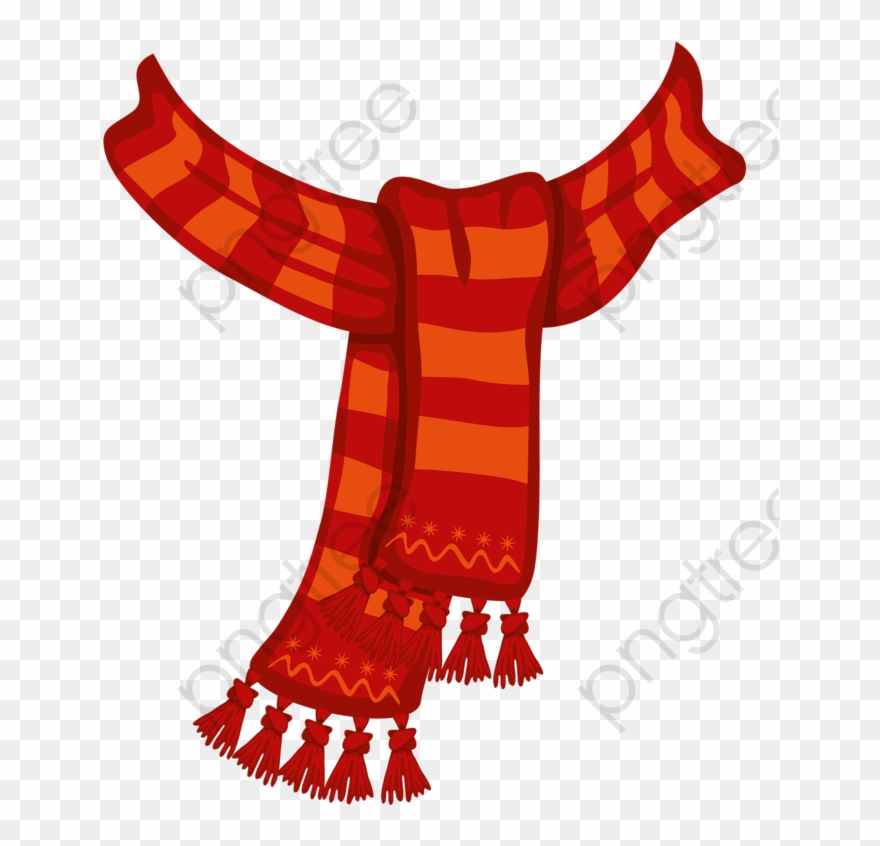 Elves clipart scarf. Red hand painted png