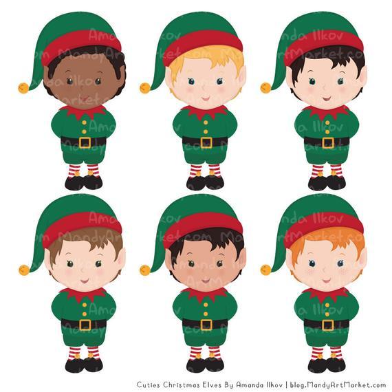 Cute christmas patterns elf. Elves clipart schedule