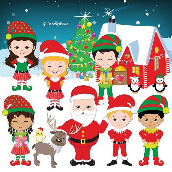 Christmas santa s cute. Elves clipart schedule
