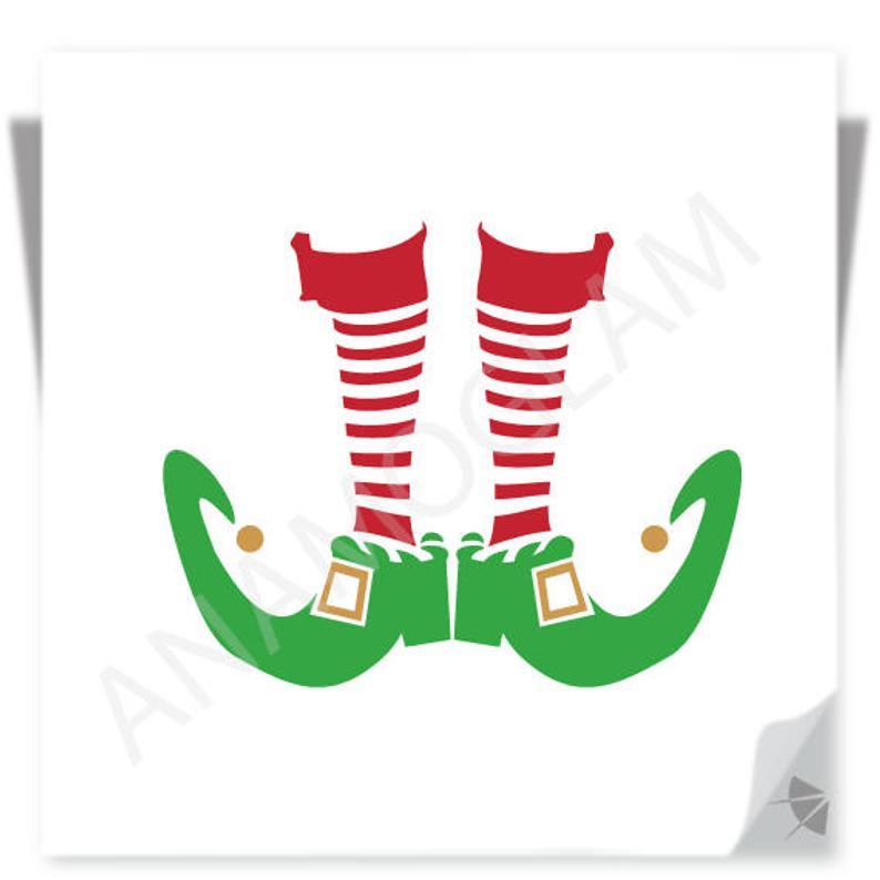 Elves clipart socks. Elf shoes design instant
