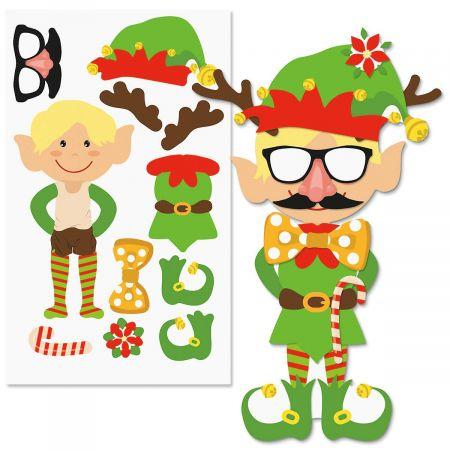 Elves clipart sticker. Decorate your own elf