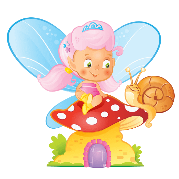 Faries and elves wall. Fairy clipart childrens