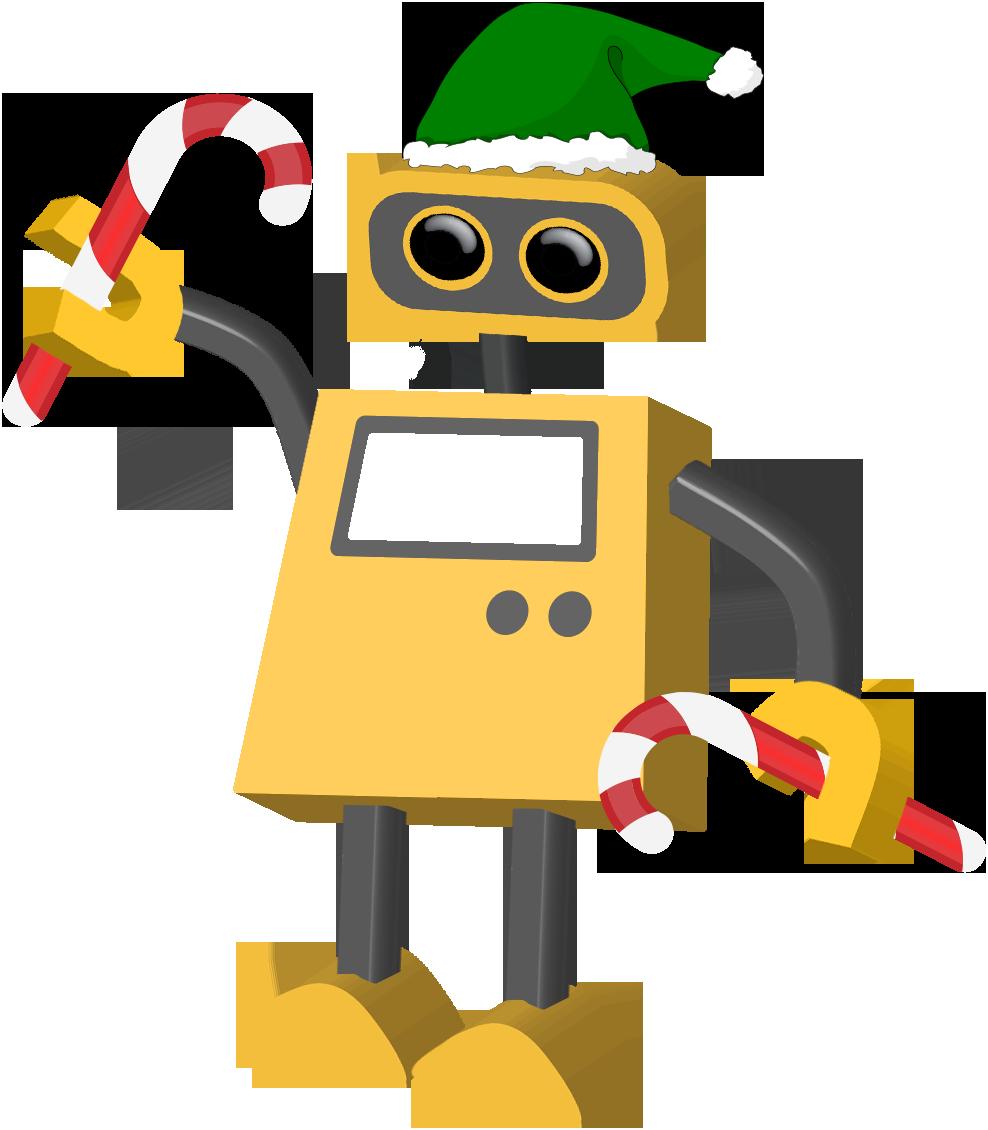 Robot holiday elf tim. Elves clipart tool