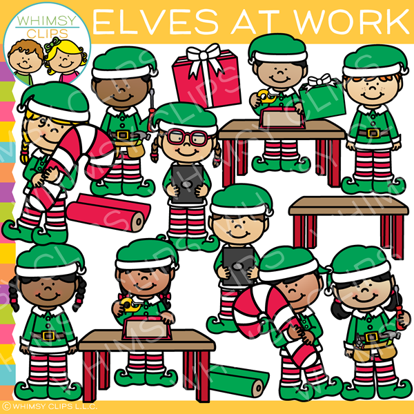 At work clip art. Elves clipart tool