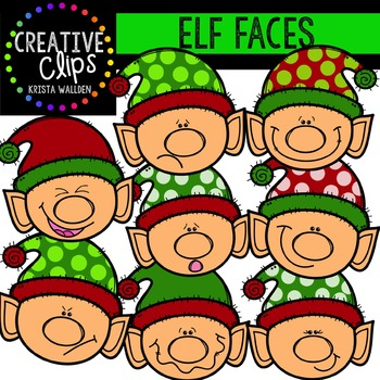 Elves clipart two. Elf faces creative clips