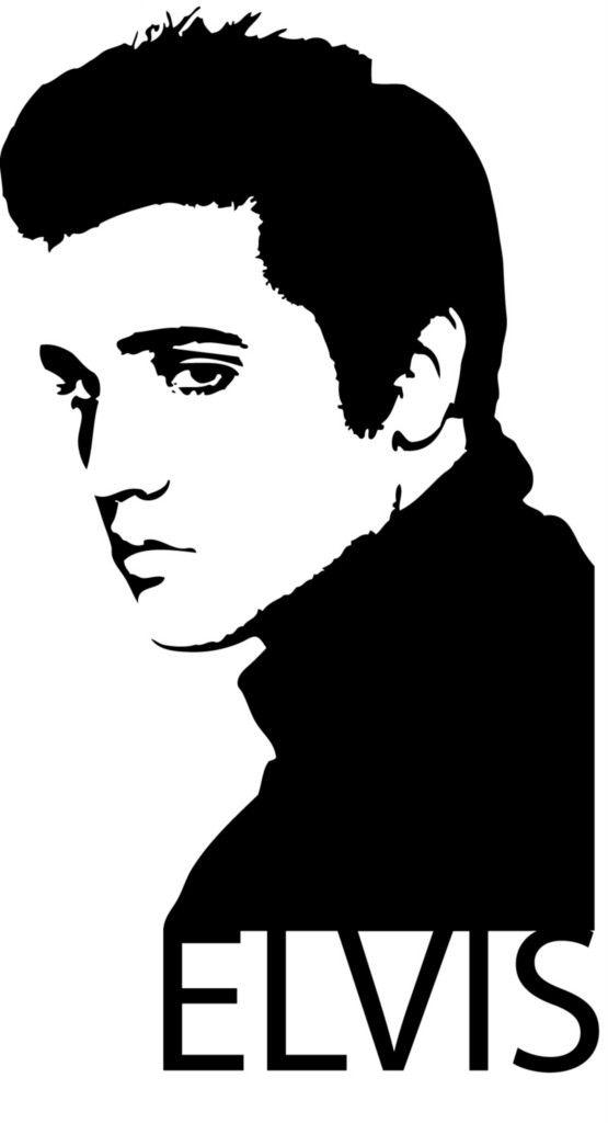 Silhouette clip art bing. Elvis clipart