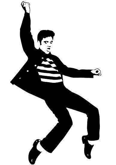 Elvis clipart. Stencil graphic popart stars