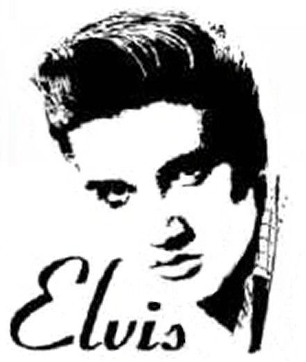 Elvis clipart black and white. Free download clip art