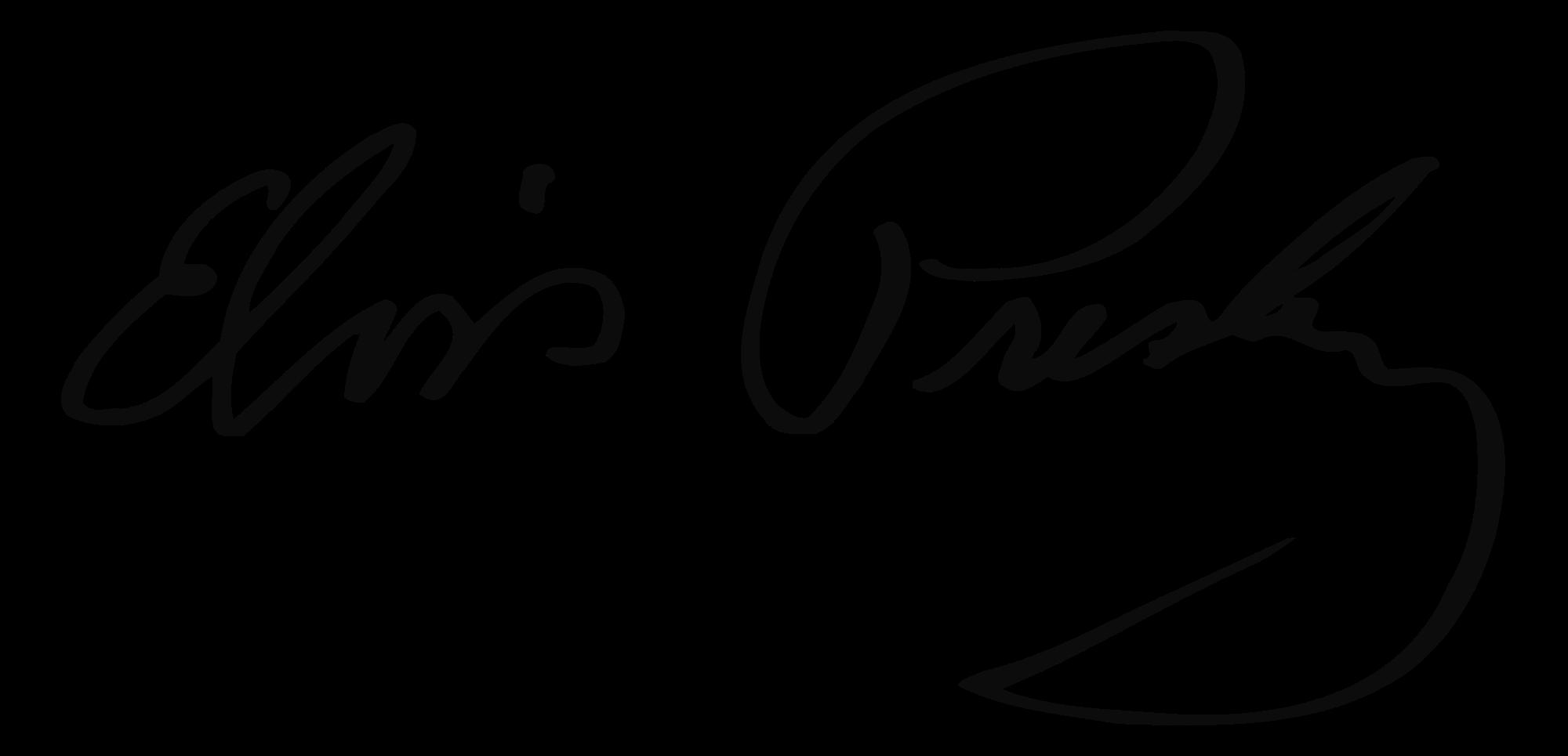 Presley autograph . Elvis clipart black and white