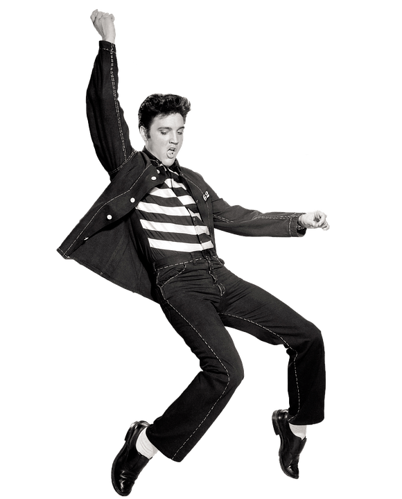 Retro clipart dance. Dancing elvis presley transparent