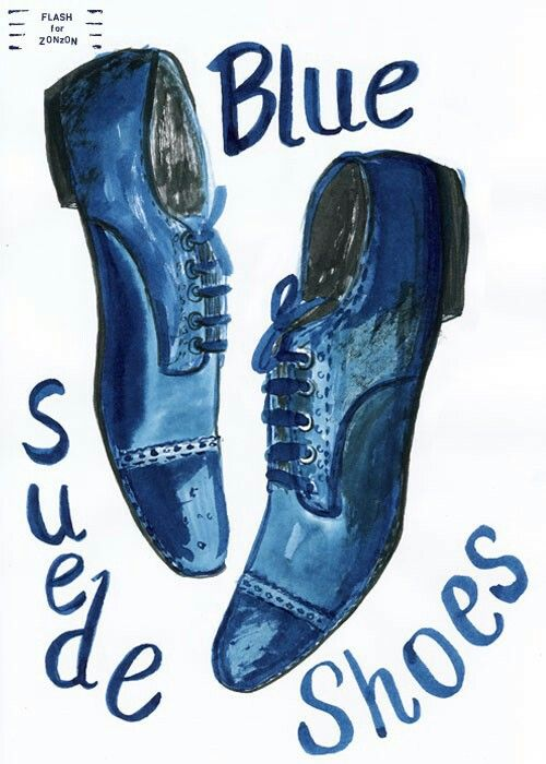 Pin by kathy luty. Elvis clipart blue suede shoe