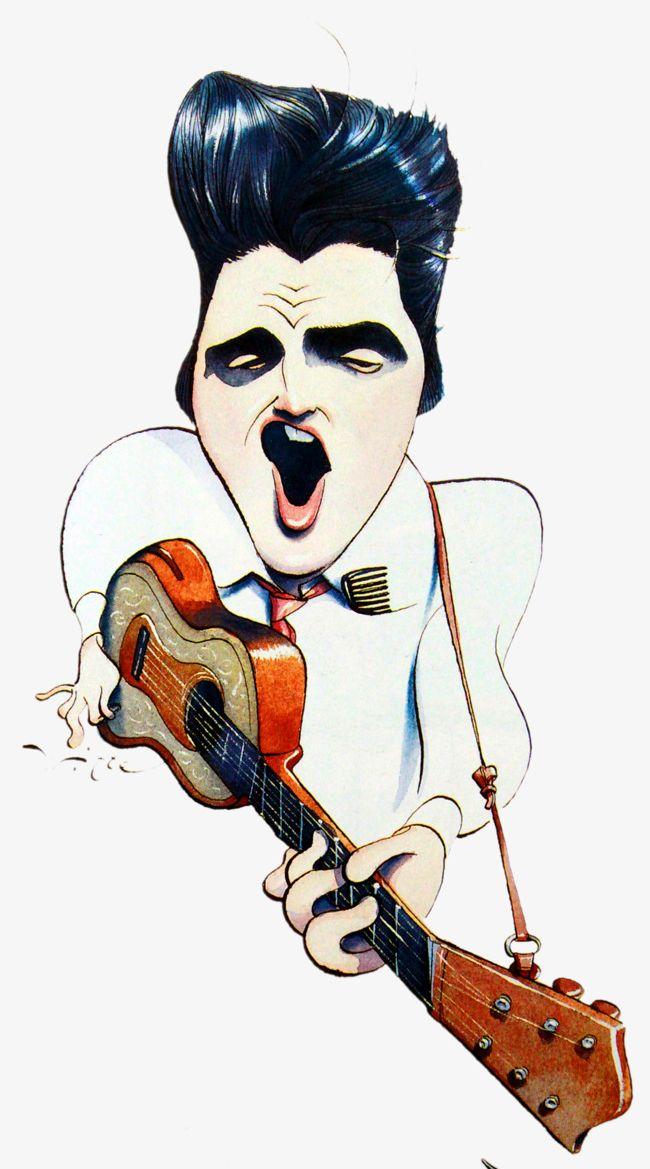 Elvis clipart cartoon. Illustrator png artistic modeling