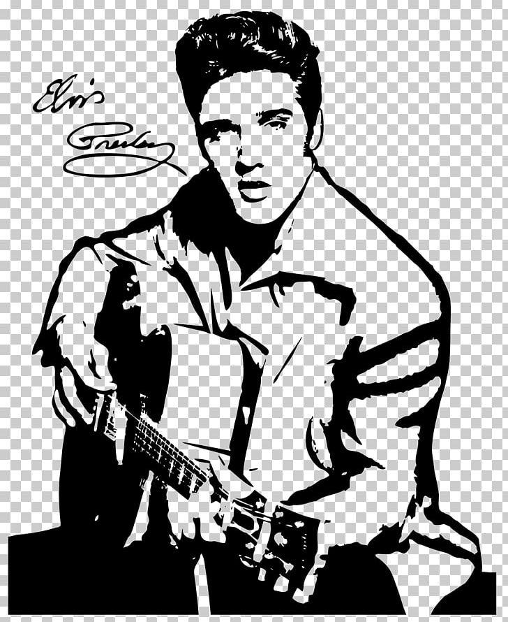 Elvis clipart coloring. Presley drawing silhouette black